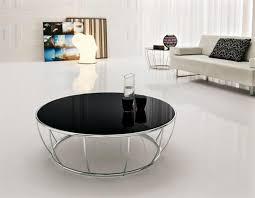 contemporary black round coffee table