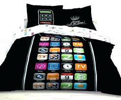 full size of black and white boys bedding teen boy sets set with hand phone