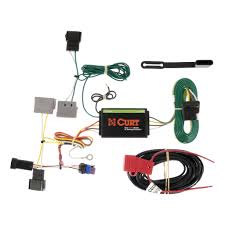 dodge journey wiring kit harness curt mfg  2011 2017 dodge journey trailer wiring kit t connector powered led