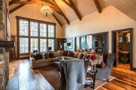 lake cabin furniture. The Ceiling In The Great Room Reaches 26 Feet At Top. To Cozy Up Lake Cabin Furniture E