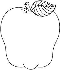 Manzanas Para Colorear Silueta De Manzana Dibujalia Dibujos Para Colorear