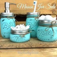 teal and brown bathroom sets teal bathroom rug sets set of 4 5 painted mason jars