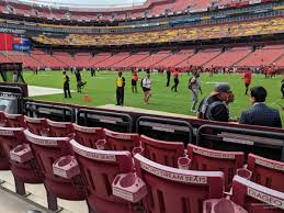 Fedex Field Seating Chart Fedexfield Section 18 Rateyourseats Com