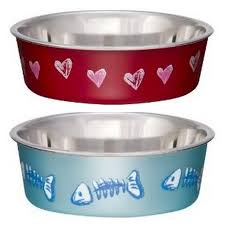 Decorative Dog Bowls Decorative Stainless Steel Bella Bowls For Pets Supercoolpets