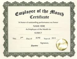 Printable Employee Of The Month Certificates Geographics Certificates Free Word Templates Clip Art