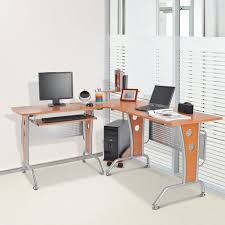 homcom gaming l shaped desk corner
