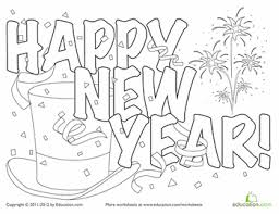 Small Picture Festive New Year Hat Coloring Page Worksheets Holidays and