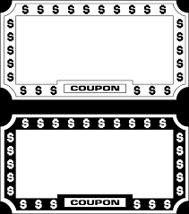 Coupon Outline Template Free Coupon Border Png Download Free Clip Art Free Clip