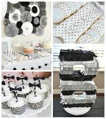 Black Tie Theme Karas Party Ideas Black White Bow Tie Themed Birthday Party