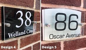 personalised acrylic house sign save