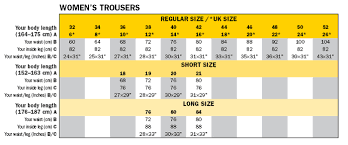 Snickers Trousers Size Chart Size Chart