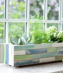 wood shim window box planter