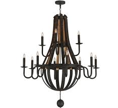 large wood and iron chandelier facebook share