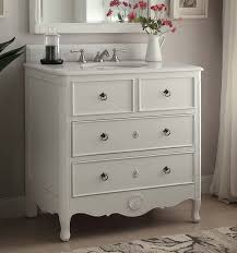 34 inch bathroom vanity cottage beach style vintage white color 34 wx21 dx35 h chf081aw
