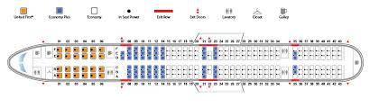 United Plane Seating Chart Boeing 757 300 753