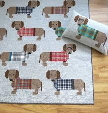 Dog Quilt Patterns Custom Patterns By Elizabeth Hartman DOGS IN SWEATERS Pdf Quilt Pattern