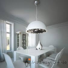 atitlan white shade pendant light by iris design studio