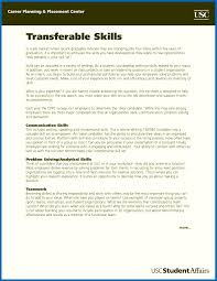 Attractive Resume Transferable Skills Sample Frieze Documentation