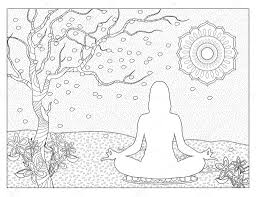 meditation coloring pages.  Pages Meditation Coloring Pages For E