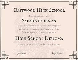 Diploma Wording Rustic High School Diploma Certificate Templates Canva High School