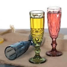 unique champagne flutes. Coloured Glass Champagne Flutes Supplier Unique Toasting Old Fashioned Glasses Wholesale