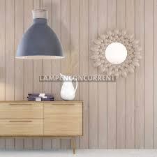 Scandinavische Hanglamp Beton Grijs Met Hout ø 40cm