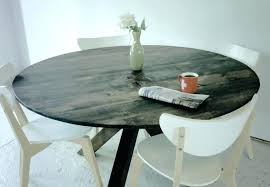 distressed black kitchen table round dining wood and chairs home room