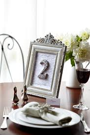 diy framed wedding table number shabby chic
