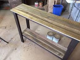 Wonderful Diy Sofa Table Plans Recycled Pallet And Foyer Impressive Ideas