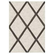 kalora solo cream grey diamond trellis rug