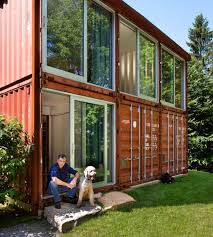 shipping container house designed by adam kalkin the two story