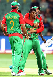 england style steps: rubel hossain clean bowled the last  batsmen finishing the match in emphatic style