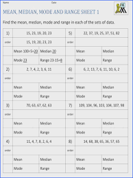 Mean Mode Median Range Worksheet - Checks Worksheet