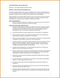 Prepossessing Resume Retail Sales Associate Job Description In