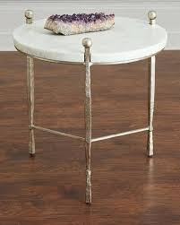 silver coffee table quick look a clarion round stone top side table available in silver silver coffee table uk