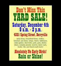 Yard Sale Flyer Ideas Biz Flyers