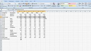 Setting Up An Excel Spreadsheet On How To Make A Set Business Budget