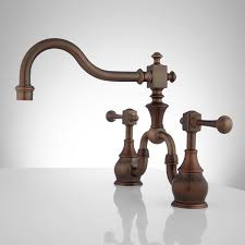 Venetian Bronze Kitchen Faucet Vintage Bridge Kitchen Faucet Lever Handles Kitchen