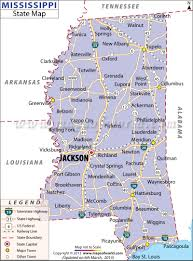state map of mississippia