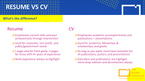 What's The Difference Between A Cv And A Resume? | The Border Collective