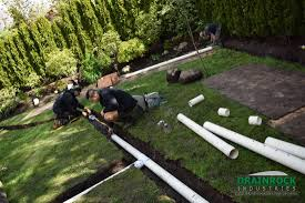 Installing Downspout Drain Lines  Ask The BuilderAsk The BuilderDrainage In Backyard