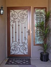 decorative security screen doors. Traditional Scroll Security Screen Door By First Impression Doors Mediterranean-entry Decorative N