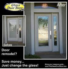 replace glass in the fiberglass door or