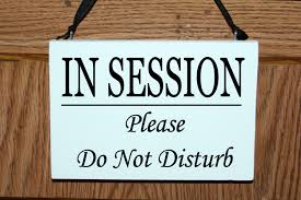 In Session Please Do Not Disturb Wood Door Hanger Sign Session In