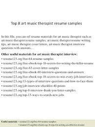 Sample Mental Health Counselor Resume Top 8 Art Music Therapist