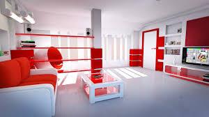 room interior inspiring bright modern red
