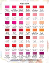 Floriani Deluxe Thread Color Chart Rnk Distributing