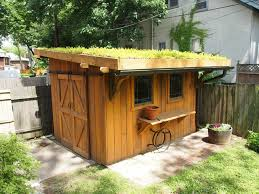 green roof garden shed traditional
