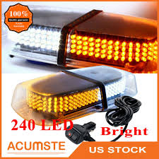 Snow Plow Emergency Lights Details About 240 Led Emergency Flash Warning Roof Top Strobe Snow Plow Light Amber White Us