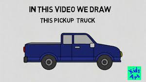 How to Draw a Pickup Truck Easy Step by Step - YouTube